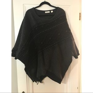 Anthropologie Sleeping On Snow Wool/Cable Poncho